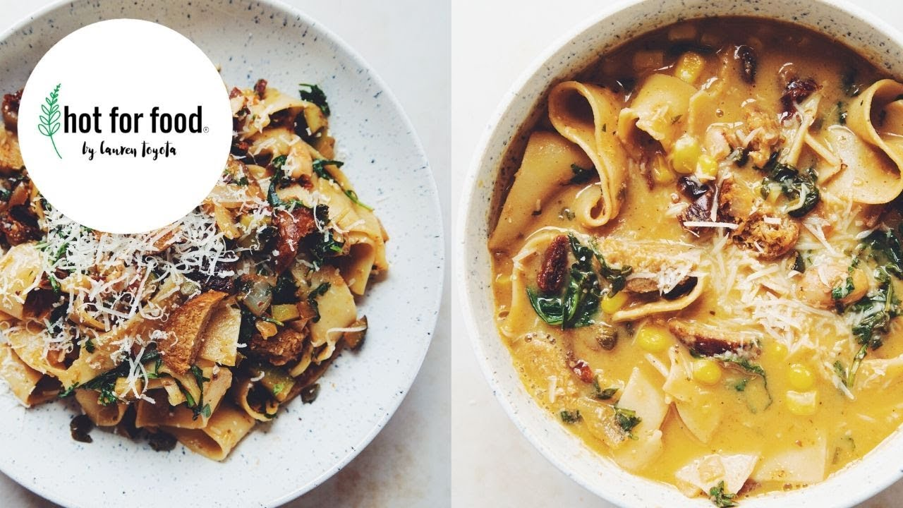 how to make an easy pasta (and turn leftovers into soup!) | RECIPE?! ep #30 (hot for food)