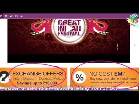 Amazon Great Indian Festival Starting from 17 Oct 2016