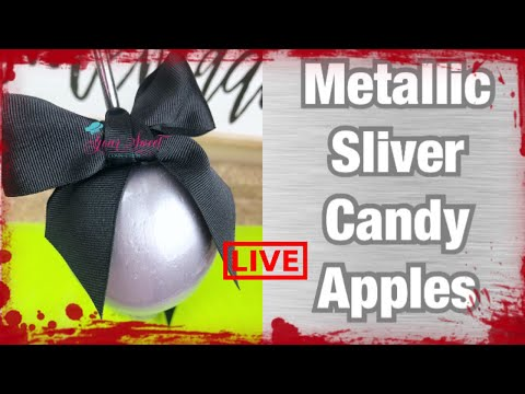 HOW TO ACHIEVE METALLIC SILVER CANDY APPLES