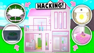 I MADE A HOUSE ONLY USING BUILDING *HACKS* AUF BLOXBURG! (Roblox)