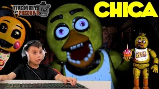 Five Nights at Freddy's at Chuck E Cheese Chica Jump Scare ROBLOX Game FNAF CEC