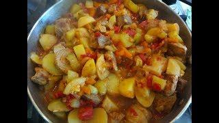 Овощное рагу из кабачков с мясом