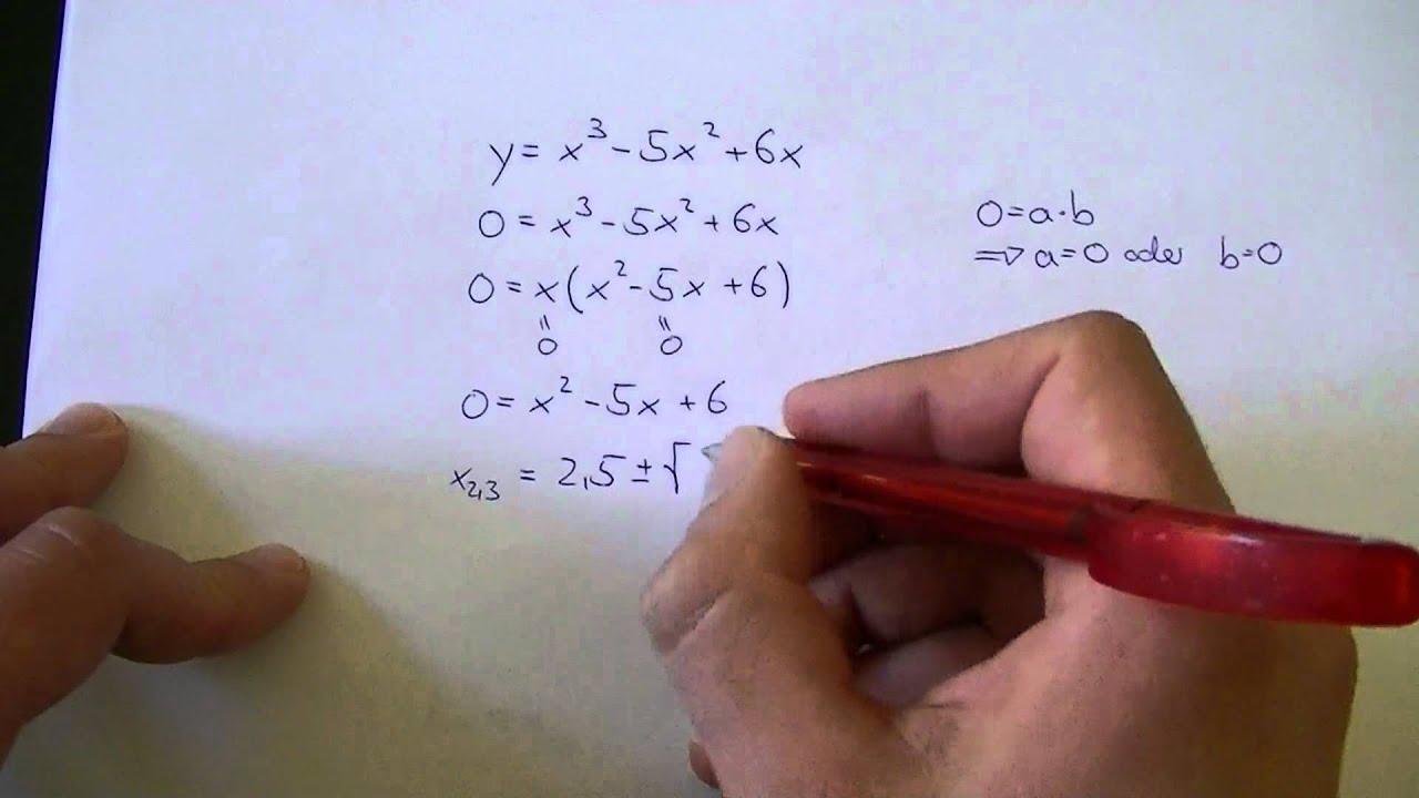 Gleichungen 3. Grades auf quadratische Gleichungen zurückführen ...
