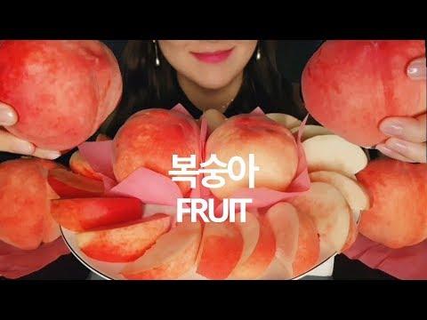 ASMR | FRUIT | 과즙팡팡 달콤복숭아 | 리얼사운드 *Peach* MUKBANG EATING SOUND