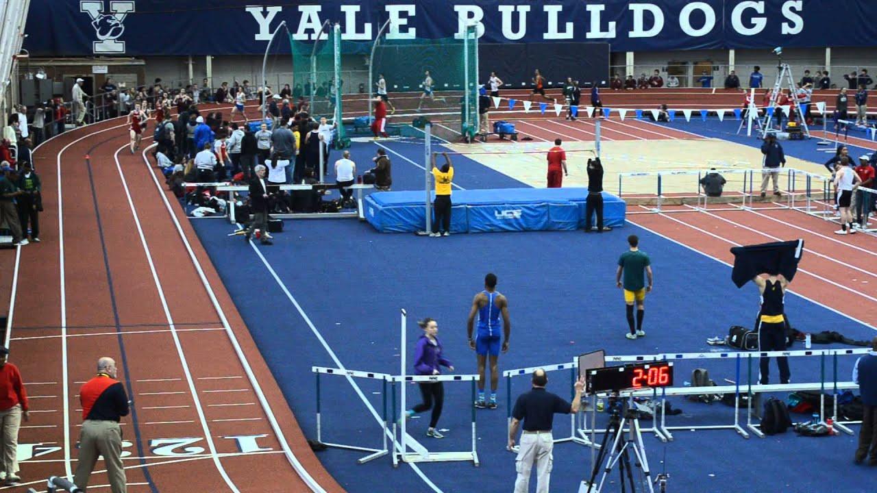 Yale Invitational 2014 Indoor Track Men S Mile Cox Cage