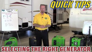 Selecting the Right Generator for Your Camper | Pete