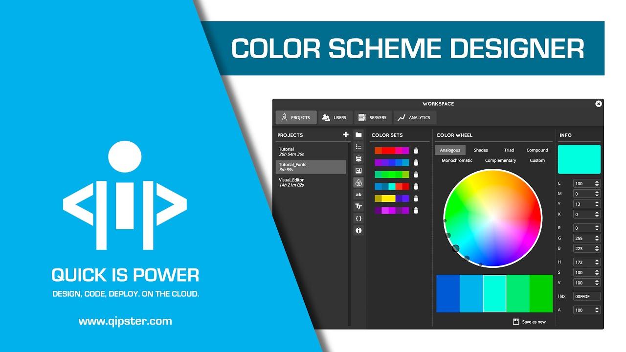 Color Scheme Designer - Qipster Tutorial - YouTube
