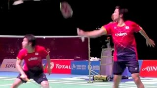 Badminton Fu,Zhang[China] vs Endo,Hayakawa[Japan] -2G MD SemiFinal YONEX Open Japan 2015.9.12