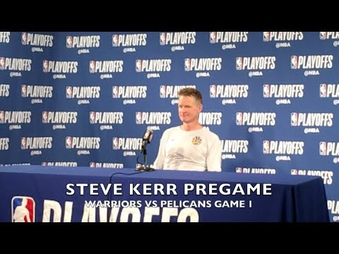 Entire STEVE KERR pregame: announces Steph Curry will not play Game 1