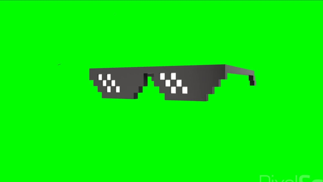 66bad134b9 Green Screen deal with it glasses   thug life glasses - YouTube