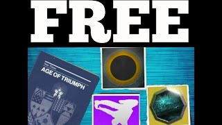 Destiny - How To Get FREE Emotes, Ornaments, Shaders & More | Easy Record Book Progress!