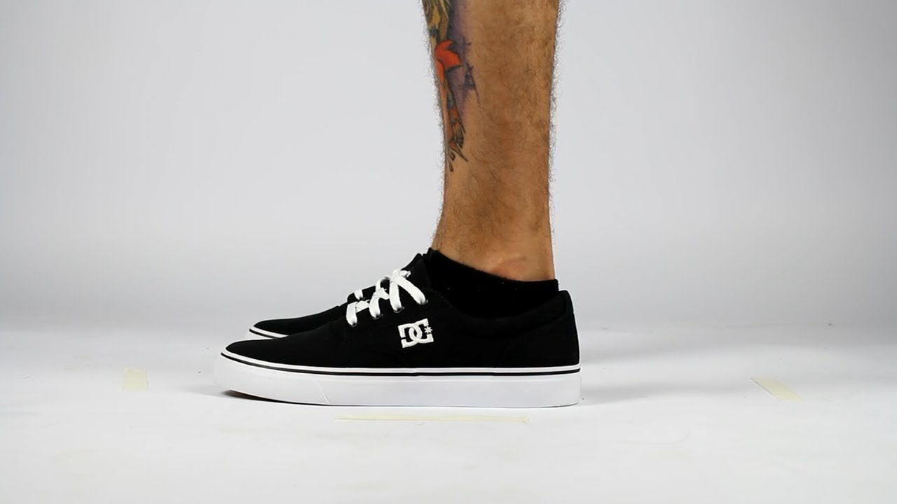 7b1af91868 Tênis DC Shoes New Flash 2 TX Black/White   Skate Shop Willian Radical