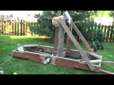Smart Car Sized Torsion Catapult Youtube