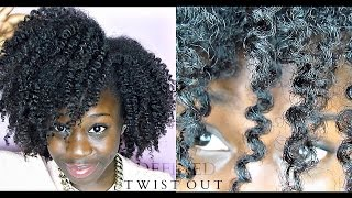 the defined twist out on natural hair