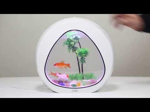 Aquarium Beautiful 4L And 6L Nano Tank  Integration Filter LED Light System