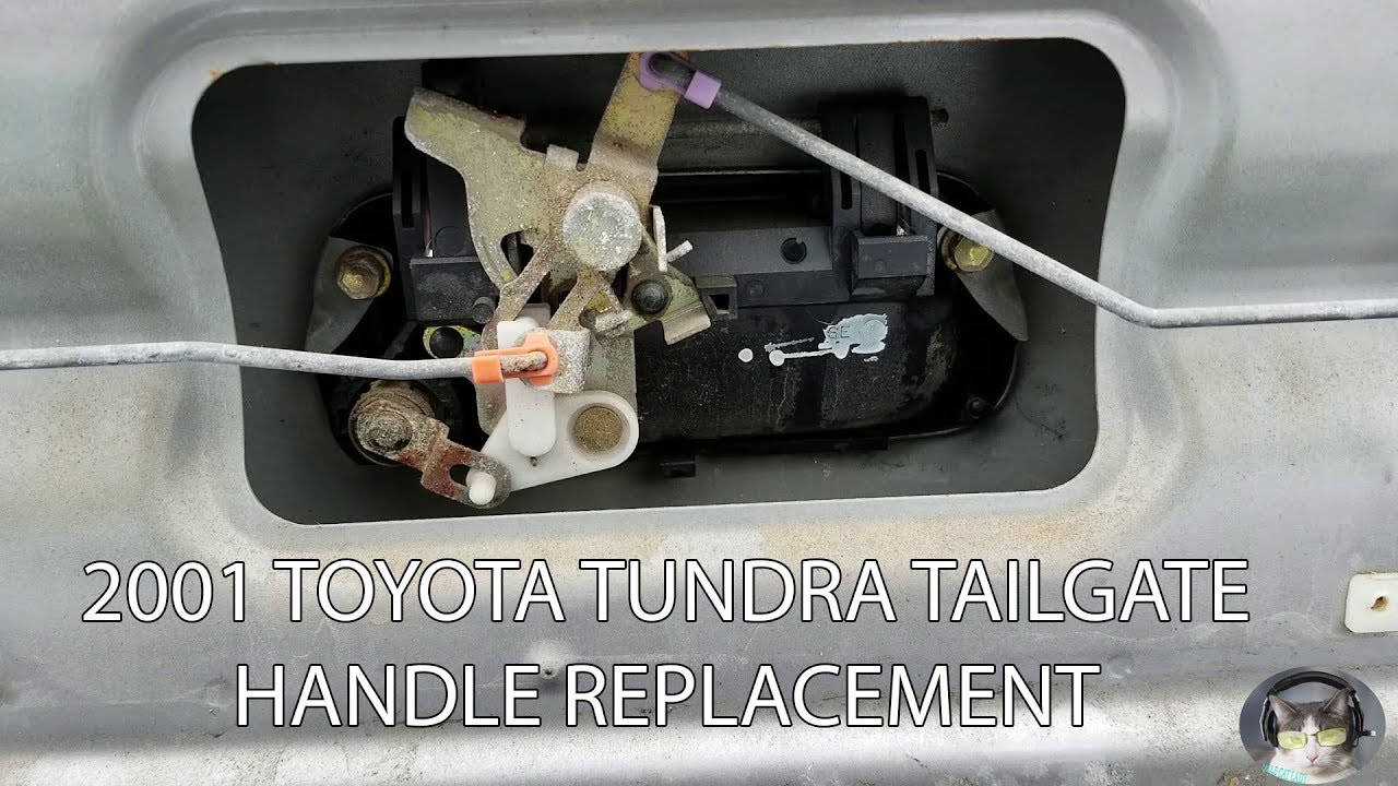 Replacing Tailgate Handle On 2001 Toyota Tundra Youtube
