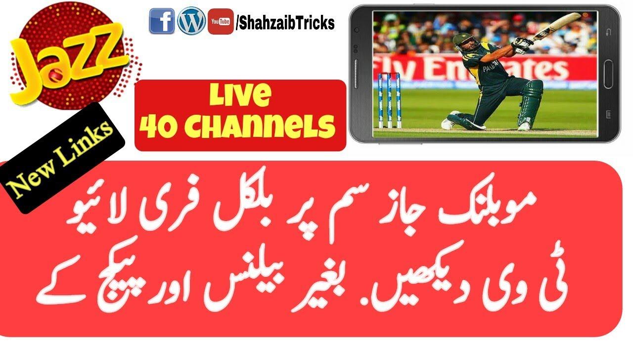 Jazz Free TV 40 Channels Via Mx Player  New Links