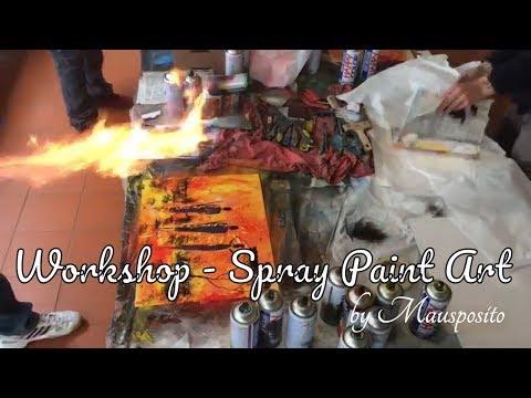 Workshop -Part 2 – SPRAY PAINT ART by Mausposito Fondi Italy