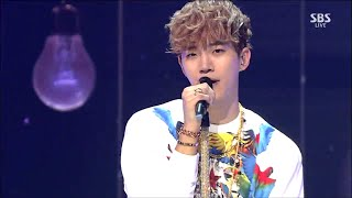 "준호(JUNHO) (Of 2PM) ""Fire"" First Stage @  SBS Inkigayo 2015.09.13"