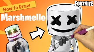 [Fortnite] Marshmello SpeedPaint | How to Draw Fortnite | iPad Pro Drawing | Fortnite Drawing