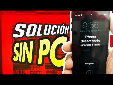 IPHONE DESACTIVADO CONECTARSE A ITUNES SIN PC SIN COMPUTADORA SIN ORDENADOR