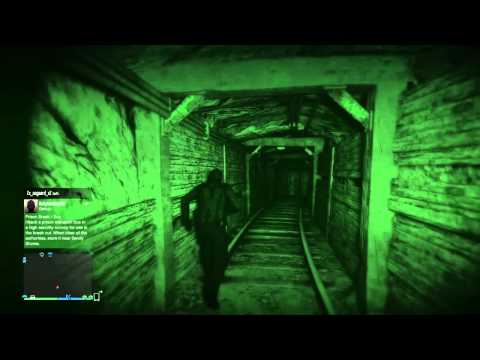 Gta 5 - Night Vision Exploring Secret Mine Tunnel