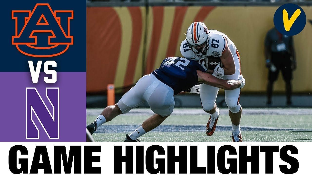 Auburn vs #14 Northwestern Highlights | 2021 Citrus Highlights| College Football Highlights