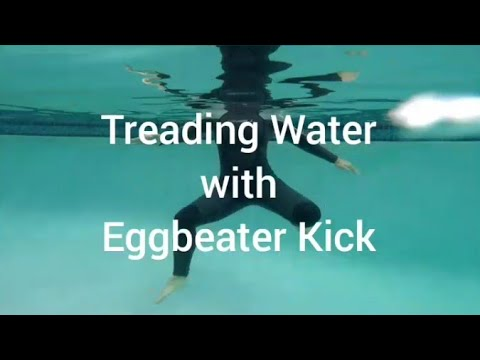 Adult Swim Lesson. How to Tread Water With Eggbeater Kick. Tutorial From a Synchro Swimmer.