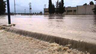 فيضانات في بوهلالة بلدية  ابن مهيدي ولاية الطارف في فيفري 2012