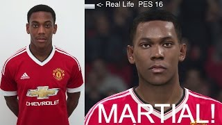 ANTHONY MARTIAL IN FIFA 16 AND PES 2016! (Face Review) #29