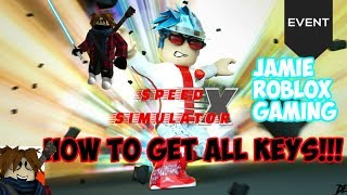 [IN-GAME EVENT] How to get ALL KEYS!! | Roblox Speed Simulator X