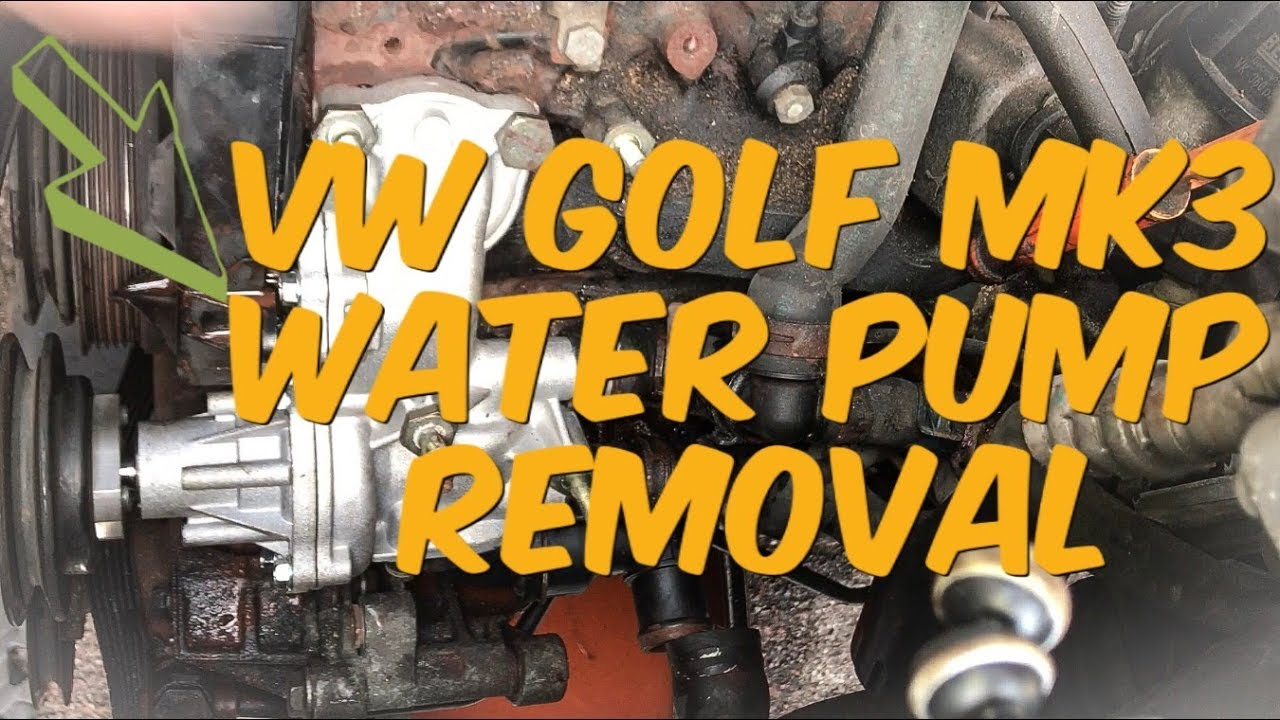 Vw Golf Mk3 Water Pump Replacement Youtube
