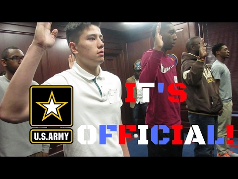 SWEARING INTO THE U.S ARMY! [ MEPS VLOG ]
