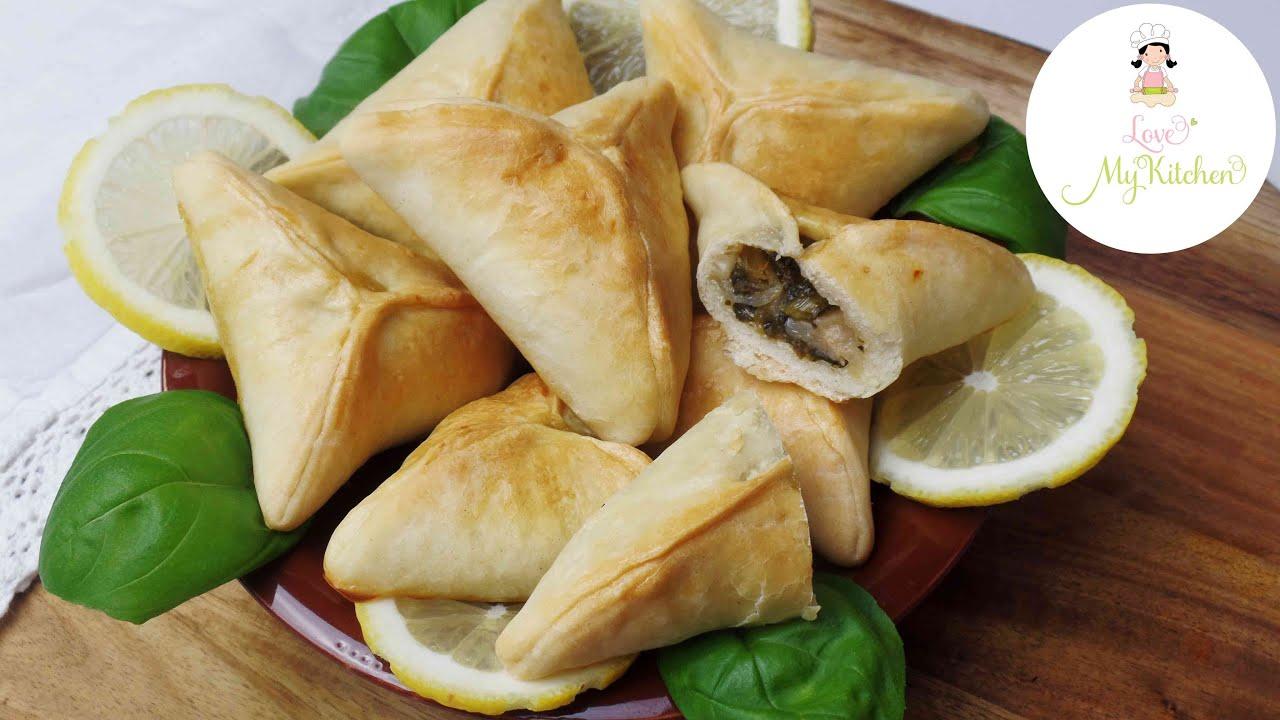 Rezept | Fatayer | libanesische Spinatteigtaschen | Teigtaschen |  libanesische Küche | فطير السبانخ