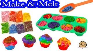 Mix, Make, & Melt Colorful Doodle Cake Cupcake Crayon Maker Craft Kit - Cookieswirlc