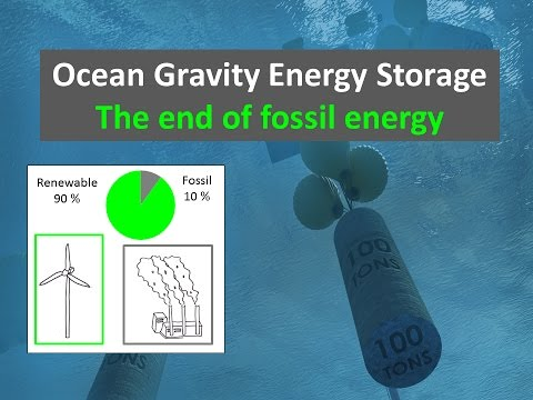 Ocean Gravity Energy Storage Can Improve Renewable Economy