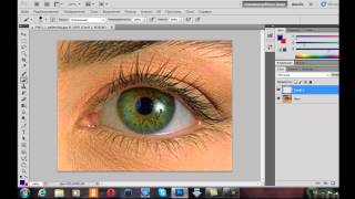 уроки PhotoShop CS5 (Как изменить цвет глаз)