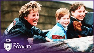 William & Harry After Diana's Death | My Mother Diana | Real Royalty With Foxy Games