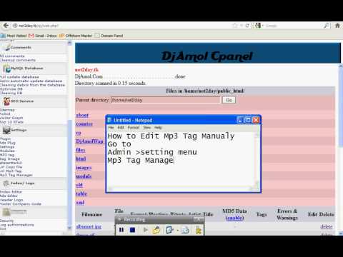 Adavance Auto Index (05) - MP3 TAG Editor  id3v1, id3v2 Video Player, Video Screenshot