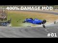 Automobilista HUGE Crashes #01 | 400% Damage Mod | NO MUSIC