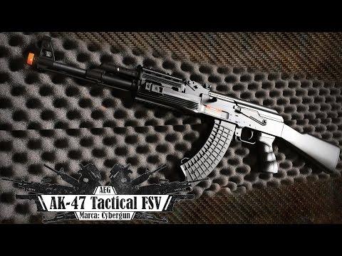 Rifle Elétrico AK-47 Tactical FSV da Cybergun (Airsoft Review – BR)