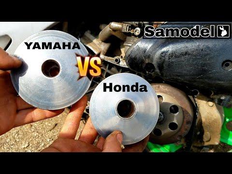 Тюнинг трансмиссии скутера Honda Dio ставлю вариатор от Yamaha и большой шкив