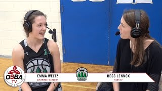 Queens University Commit Emma Weltz following 67-69 loss at Capital Courts