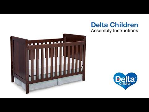 Delta Children Cypress 4-in-1 Crib Assembly Video