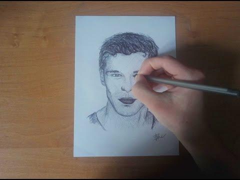 Speed Drawing Joseph Morgan ( Niklaus From The Originals) | Рисунок Джозефа Моргана