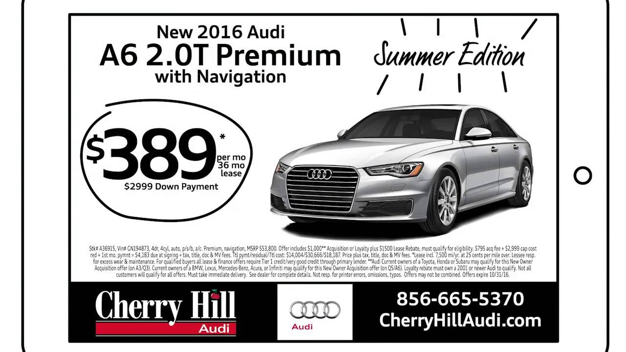 Cherry Hill Audi October Lease Specials YouTube - Cherry hill audi