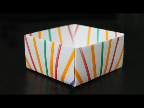 DIY Paper Box without glue - Paper Crafts for School
