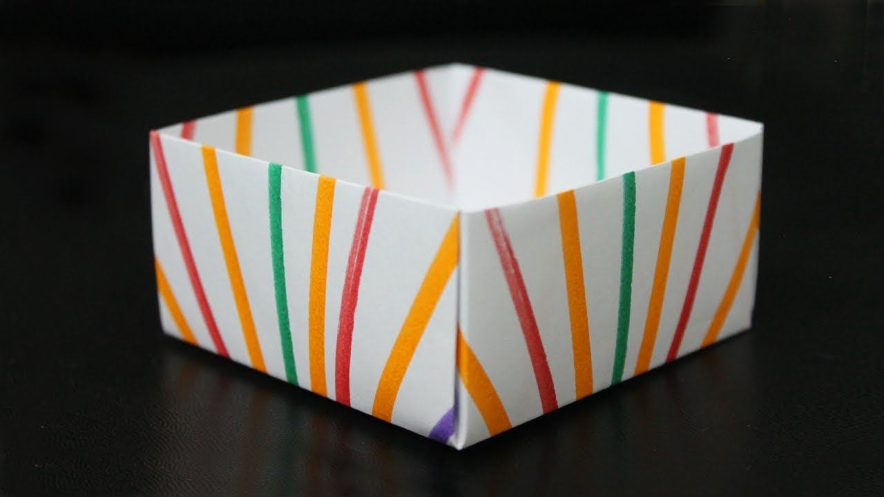 Diy Paper Box Without Glue Paper Crafts For School