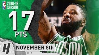 Marcus Morris CLUTCH Highlights Celtics vs Suns 2018.11.08 - 17 Pts, 3 Ast, 8 Rebounds!