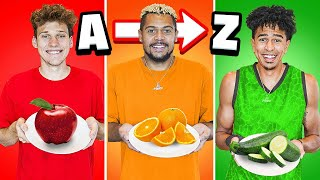 2HYPE Eats In Alphabetical Order for 24 Hours! A to Z Food Challenge